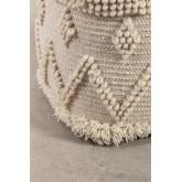 Pouf carrée en laine Drutt, image miniature 3
