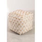 Pouf de coton carrée Finx, image miniature 2