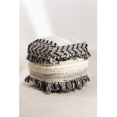Pouf de laine carrée Meli, image miniature 2