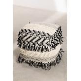 Pouf de laine carrée Meli, image miniature 3