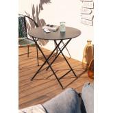 Table de jardin pliante en acier Dreh (Ø77 cm) , image miniature 1