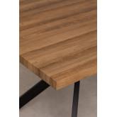Table à manger rectangulaire en MDF et métal (180x90 cm) Kogi, image miniature 5