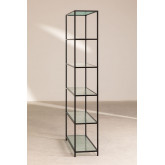 Rayonnage 5 étagères en métal et verre vertal, image miniature 3