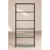 Rayonnage 5 étagères en métal et verre vertal, image miniature 4