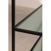 Rayonnage 5 étagères en métal et verre vertal, image miniature 5