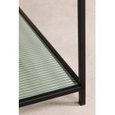 Rayonnage 5 étagères en métal et verre vertal, image miniature 6