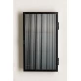 Armoire murale verticale en métal et verre, image miniature 3