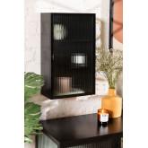 Armoire murale verticale en métal et verre, image miniature 1