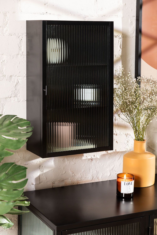 Armoire murale verticale en métal et verre, image de la galerie 1