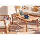Table basse de jardin en bois de teck Adira, image miniature 1