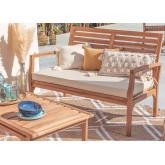 Canapé de jardin 2 places en bois de teck Adira, image miniature 1