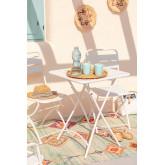 Table de jardin pliante en acier (60x60 cm) Janti , image miniature 1