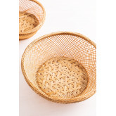 Lot de 4 assiettes décoratives en bambou Murwa, image miniature 4