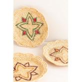 Lot de 3 assiettes décoratives Siona, image miniature 3