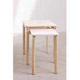 Table en bois à rallonge (60-100x38 cm) Kandy Kids, image miniature 4