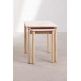 Table en bois à rallonge (60-100x38 cm) Kandy Kids, image miniature 5