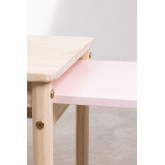 Table en bois à rallonge (60-100x38 cm) Kandy Kids, image miniature 6