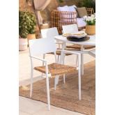 Pack 2 chaises de jardin en aluminium Amadeu, image miniature 1