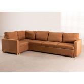 Canapé-lit d'angle 4 places Anders en tissu, image miniature 2