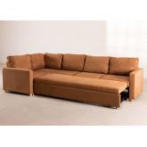 Canapé-lit d'angle 4 places Anders en tissu, image miniature 4