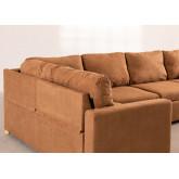 Canapé-lit d'angle 4 places Anders en tissu, image miniature 5