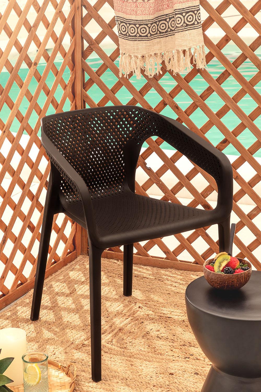 Chaise d'extérieur Frida avec accoudoirs, image de la galerie 1