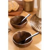 Ensemble de 2 bols en noix de coco et 2 cuillères Island, image miniature 6