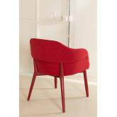 Chaise de salle à manger en bois avec accoudoirs, image miniature 3
