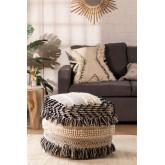 Pouf de laine carrée Meli, image miniature 1
