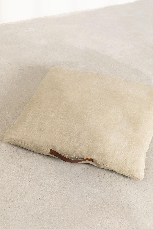 Pouf carré en coton Barry , image de la galerie 1