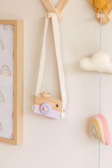 Appareil photo en bois de pin pour enfants Nakom