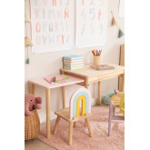 Table en bois à rallonge (60-100x38 cm) Kandy Kids, image miniature 2