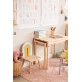 Table en bois à rallonge (60-100x38 cm) Kandy Kids, image miniature 1