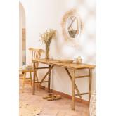 Table d'extérieur en bambou Marie, image miniature 1