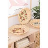 Lot de 3 assiettes décoratives Siona, image miniature 1