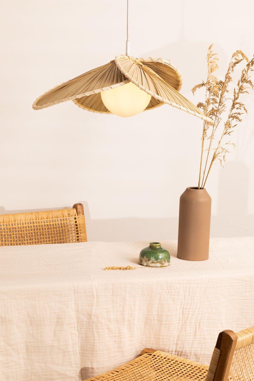Plafonnier en Feuille de Coco (Ø53 cm) Kilda, image de la galerie 1