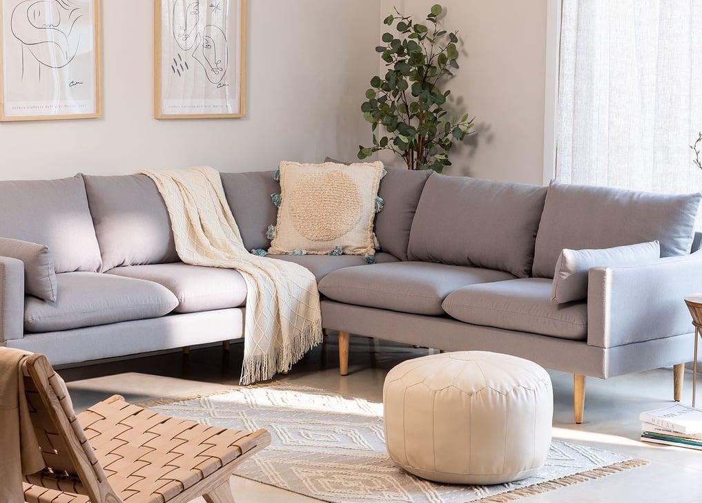 Canapé d'angle 5 places en tissu Austin, image de la galerie 1