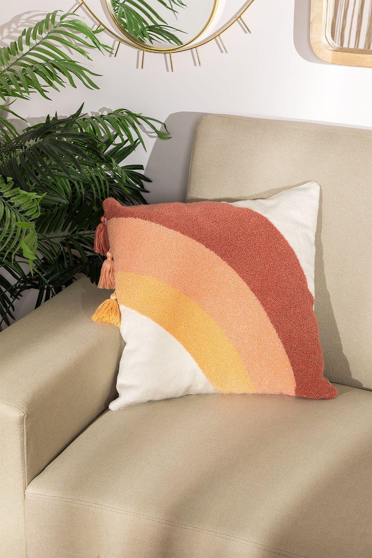 Coussin carré en coton (45x45 cm) Nory , image de la galerie 1