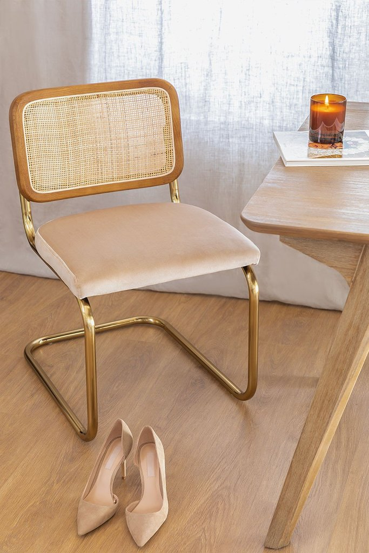 Chaise de salle à manger vintage or Tento, image de la galerie 1