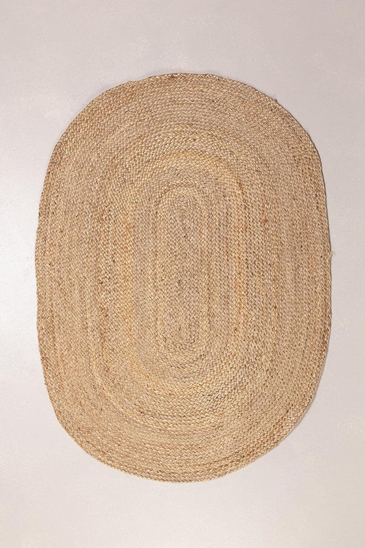 Tapis ovale en jute naturel (141x99,5 cm) Tempo, image de la galerie 1