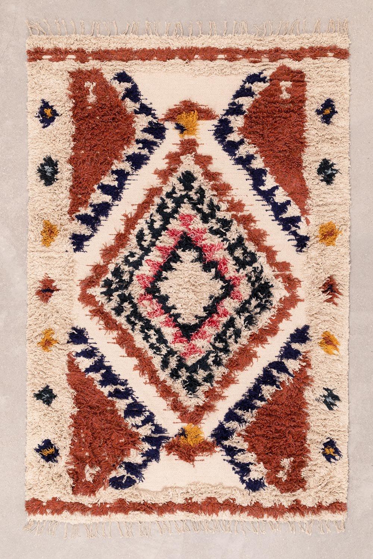 Tapis en coton et laine (185x120 cm) Manit, image de la galerie 1