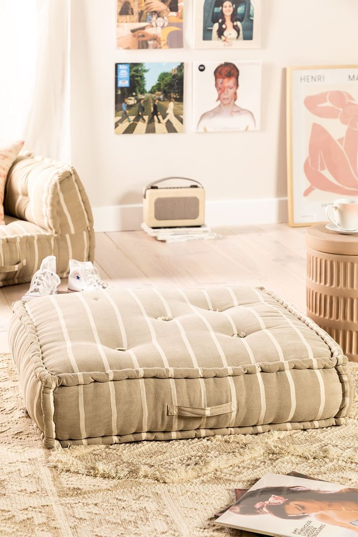 Coussin de canapé modulable en coton Dhel Boho, image de la galerie 1