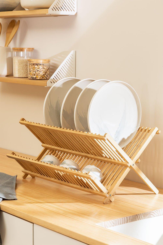 Égouttoir à vaisselle en bambou Taika, image de la galerie 1
