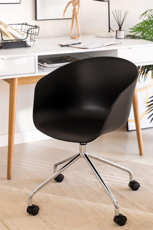 Chaise de Bureau à roulettes Yäh Métallisée, image de la galerie 1