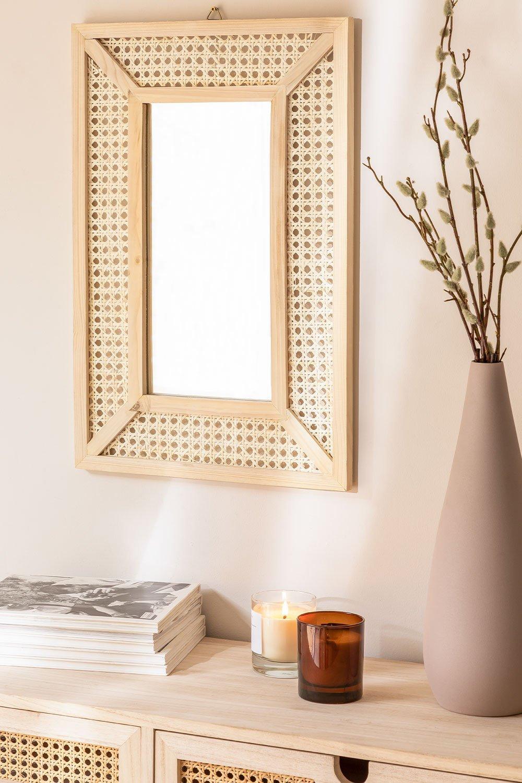 Miroir mural rectangulaire en bois (60x40 cm) Frey, image de la galerie 1