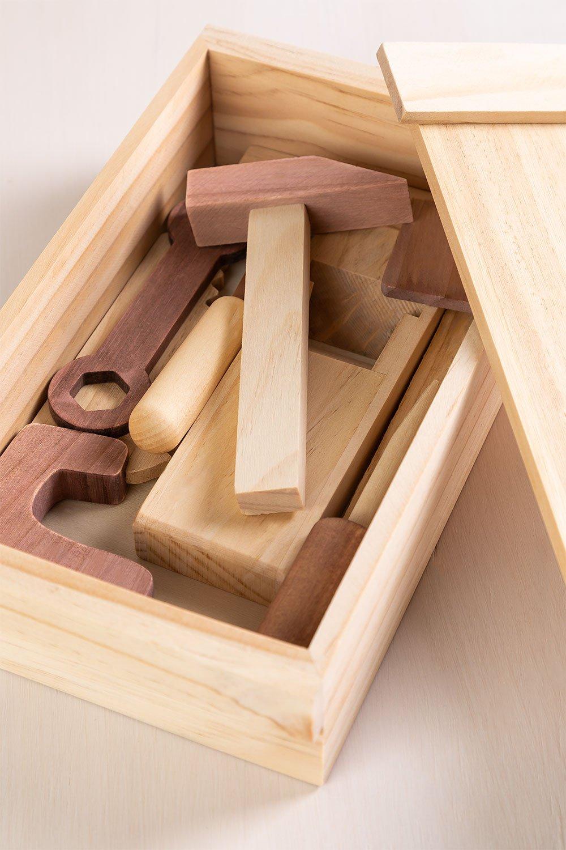 Boîte à outils en bois pour enfants Decker, image de la galerie 1