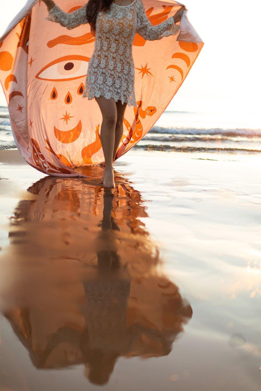Paréo de plage en coton Mistyk, image de la galerie 1