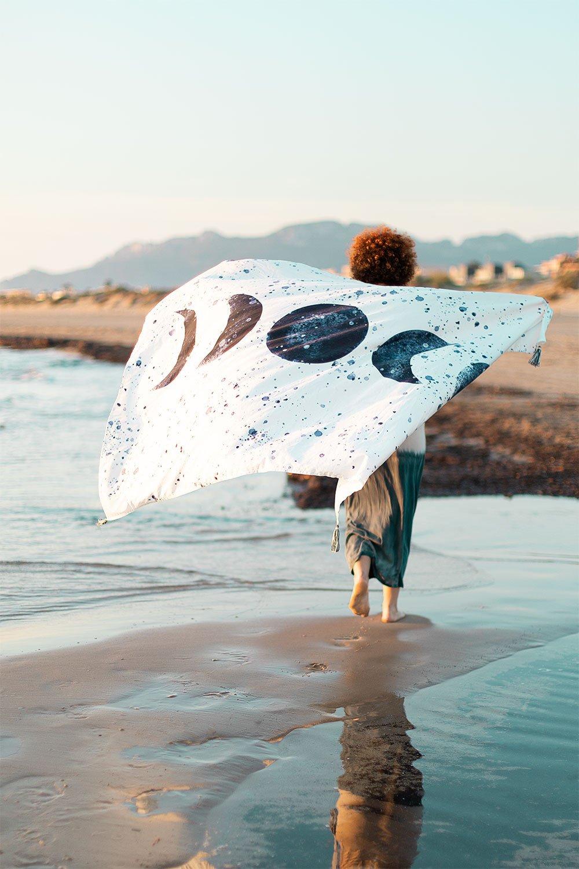 Paréo de plage en coton Akuarella, image de la galerie 1