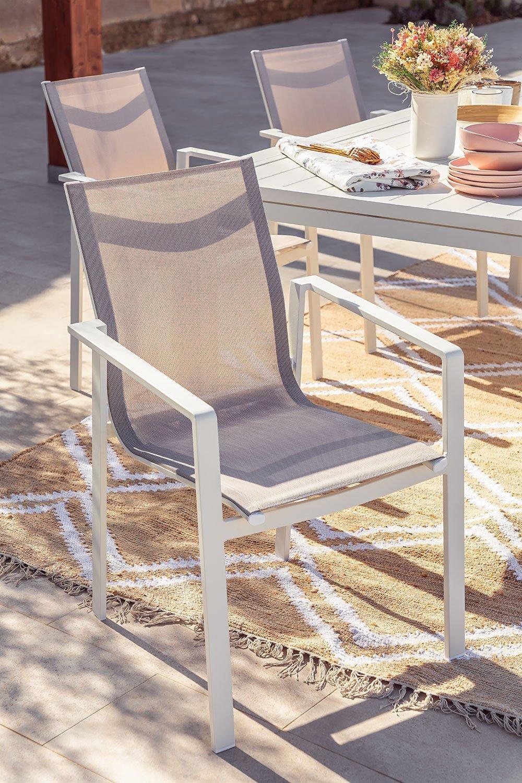 Lot 4 chaises d'extérieur Eika en aluminium, image de la galerie 1