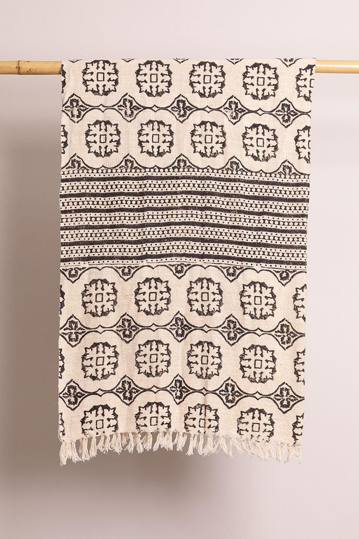 Couverture en coton à carreaux Viana, image de la galerie 1